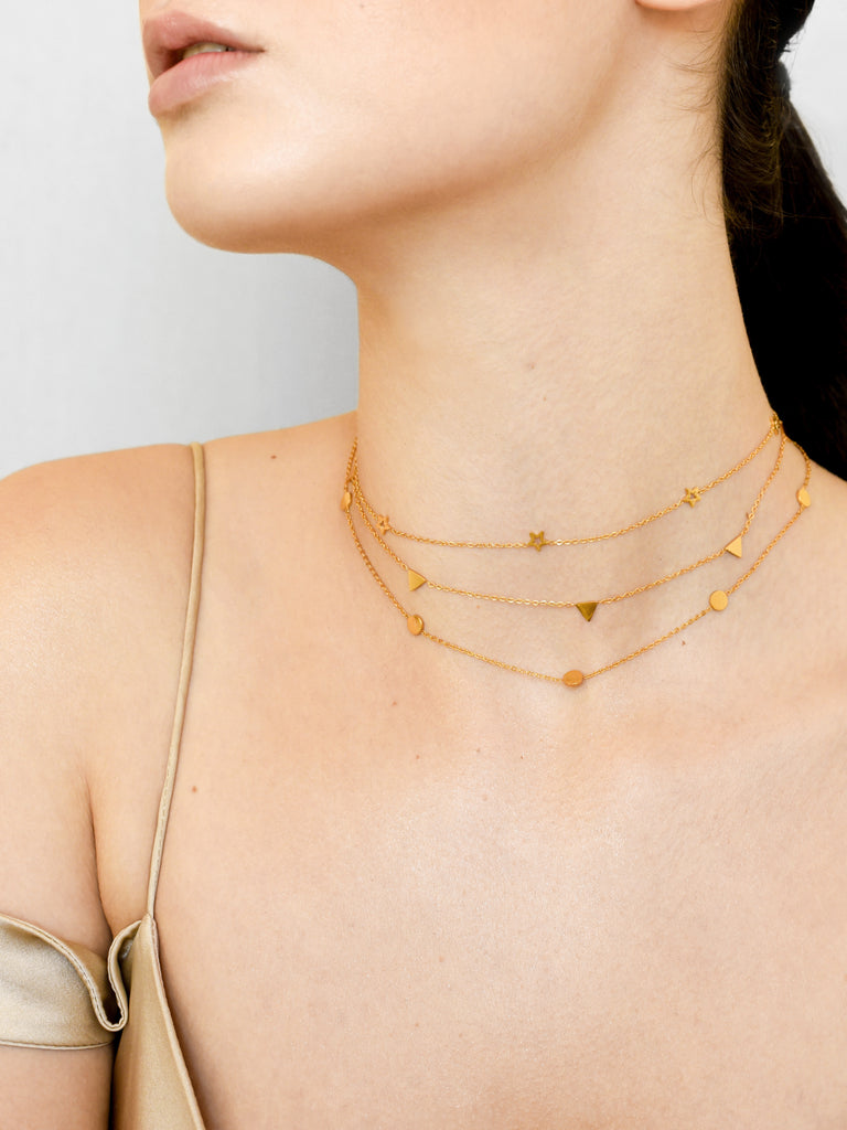 Dainty Dot Choker - Gold