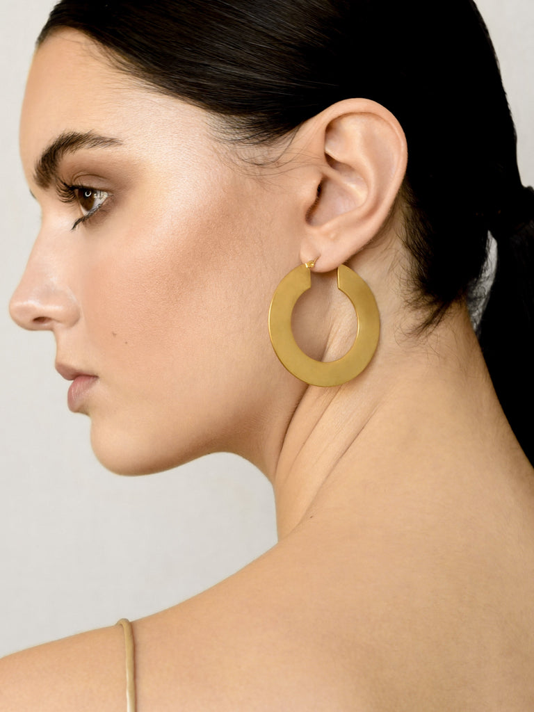 Tribal Disk Earrings - Gold