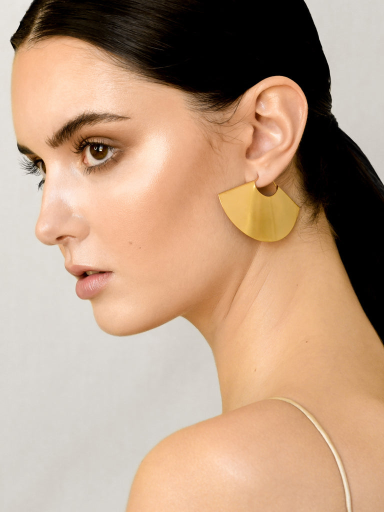 Luxe Fan Earrings - Gold