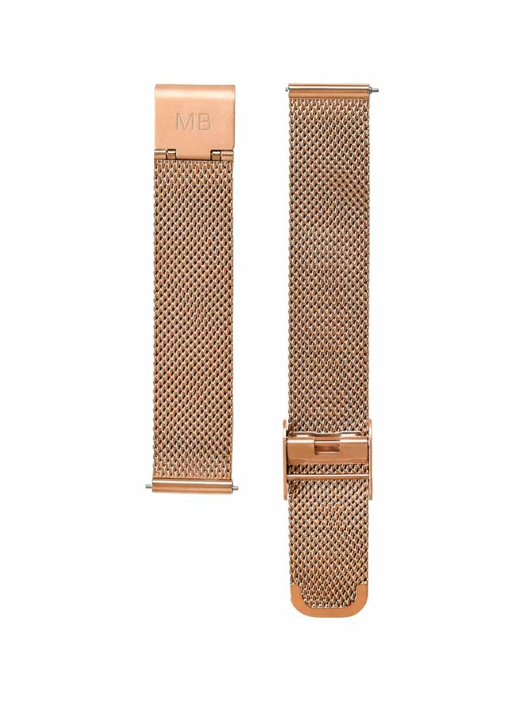 Rose Gold Mesh Strap - 16mm