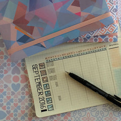 Picture of habit tracker page in Say Nice Things journal