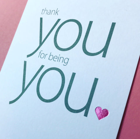 Image of Say Nice Things Thank You card