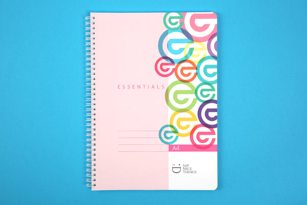 Image of A4 Essentials notebook in Candy Colours