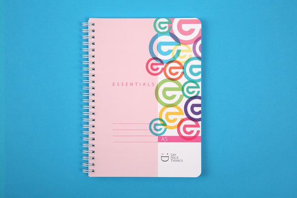 Image of Essentials A5 wiro notebook with Candy Colours design