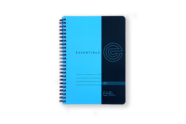 Image of Essentials A5 wiro notebook in Blue
