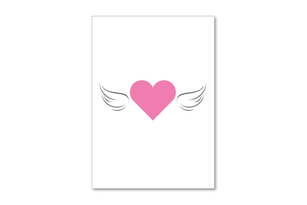 Image of front of Hearts All a Flutter A6 postcard
