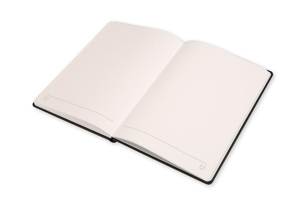 Image of Cadence A5 Notebook open on plain pages showing lay flat binding