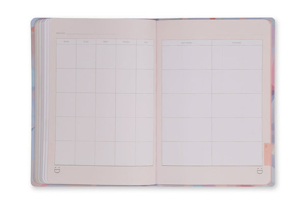 Image of Crystal A5 Journal perpetual calendar pages
