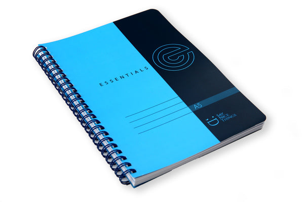 Image of A5 Essentials notebook at lay on a flat surface