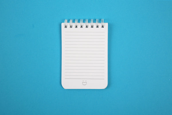 Images of lined pages inside Essentials A7 pocket notebook
