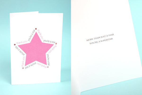 Image of You're a Star Thank You card