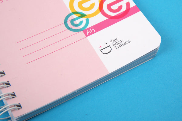 Close up image of A6 Essentials notebook candy rounded corners