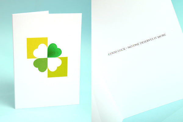 Image showing Clover Good Luck card design