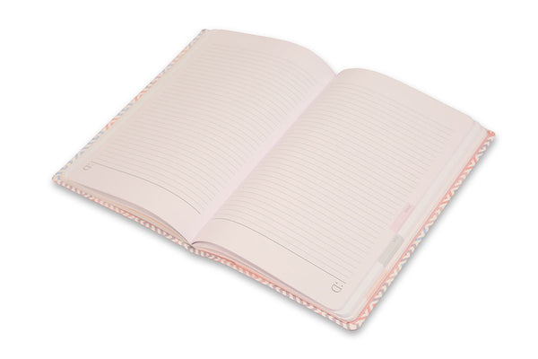 Image of Constance A5 Journal open with lay flat binding