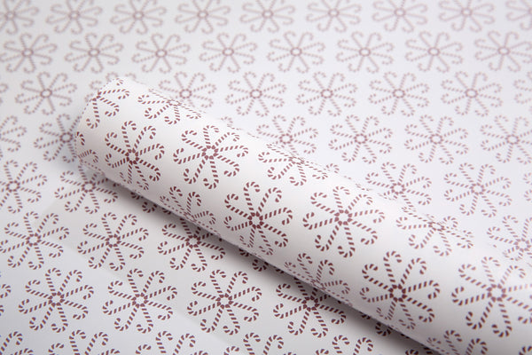 Close up image of Candy Cane Christmas Wrapping paper design
