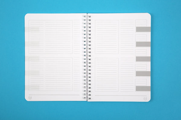Image of lined pages inside Essentials A5 notebook in Candy colours