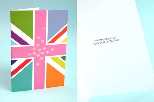 Image showing Best of British Good Luck card