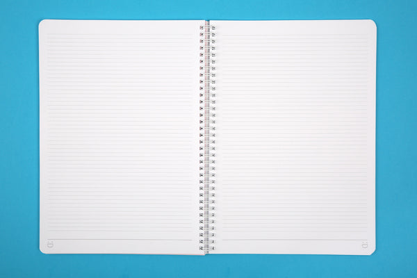 Image of lined pages in Essentials A4 wiro notebook in Candy