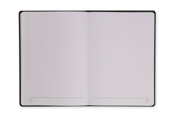 Image of Curtis A5 Notebook open to show plain page design