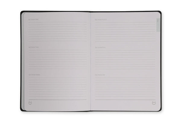 Image of Chequer A5 Journal index page design