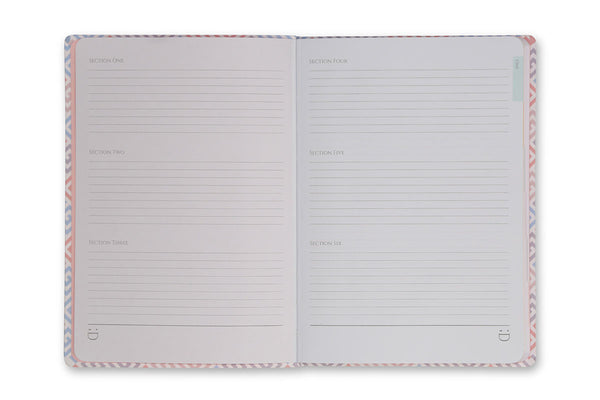 Image of Constance A5 Journal index pages design