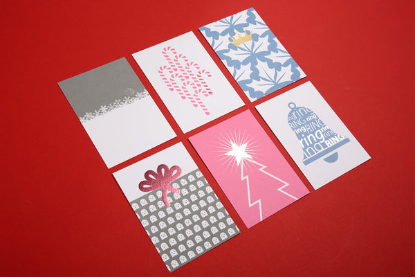 Image showing set of 6 Christmas postcards designs