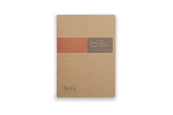 Image of A6 FlipFlop Pocket book in orange with lined design