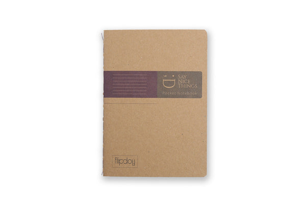 Image of A6 FlipFlop Pocket book in purple with lined design