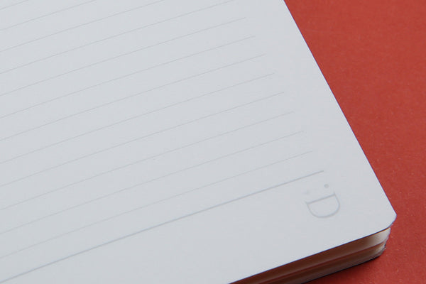 Image showing close up of lined page in A6 FlipFlop Pocket Notebook