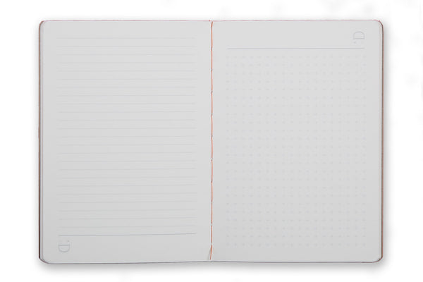 Image of A6 Pocket Notebook pages with reversible design