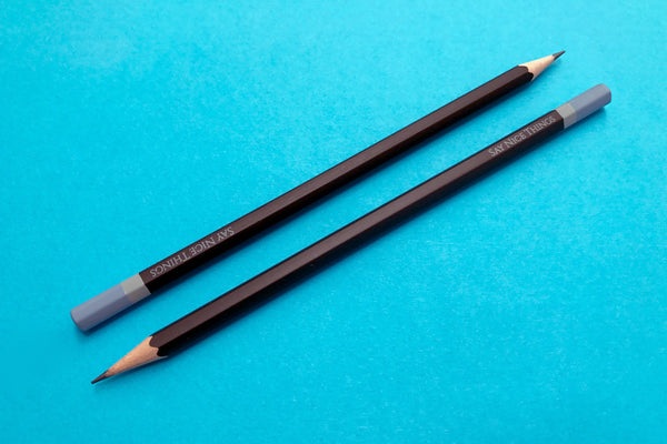 Images of Say Nice Things graphite pencils in black