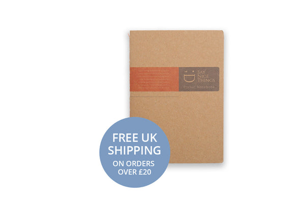 Image of A6 FlipFlop Pocket Notebook in Orange with lined design
