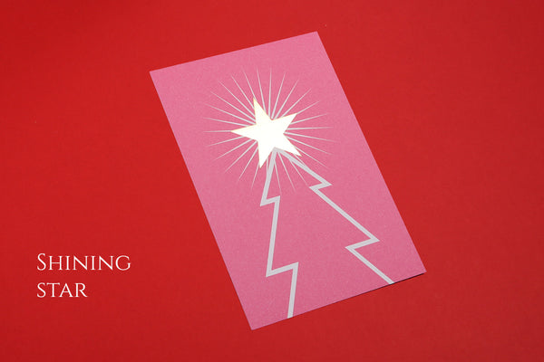 Image of Shining Star A6 Christmas postcard design