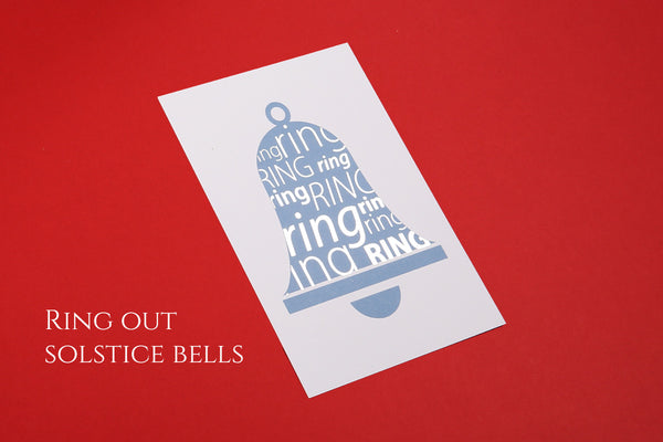 Image of Solstice Bells Christmas postcard