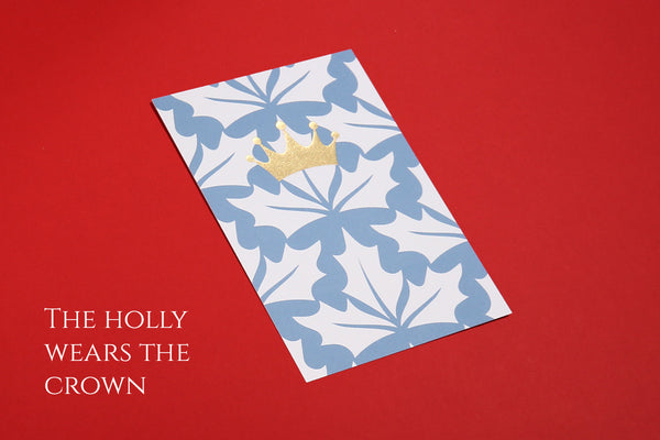Image of the Holly Wears the Crown Christmas postcard