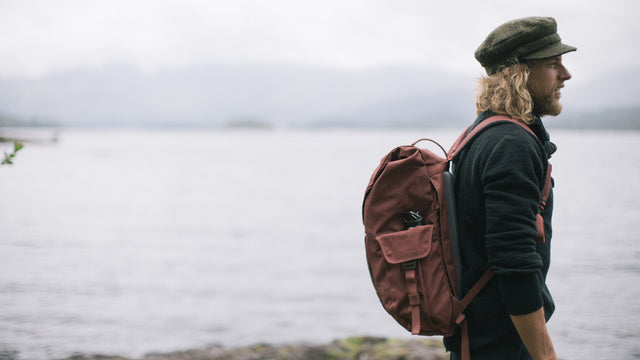 Fraser the Rucksack, down by Derwentwater in the Lake District.