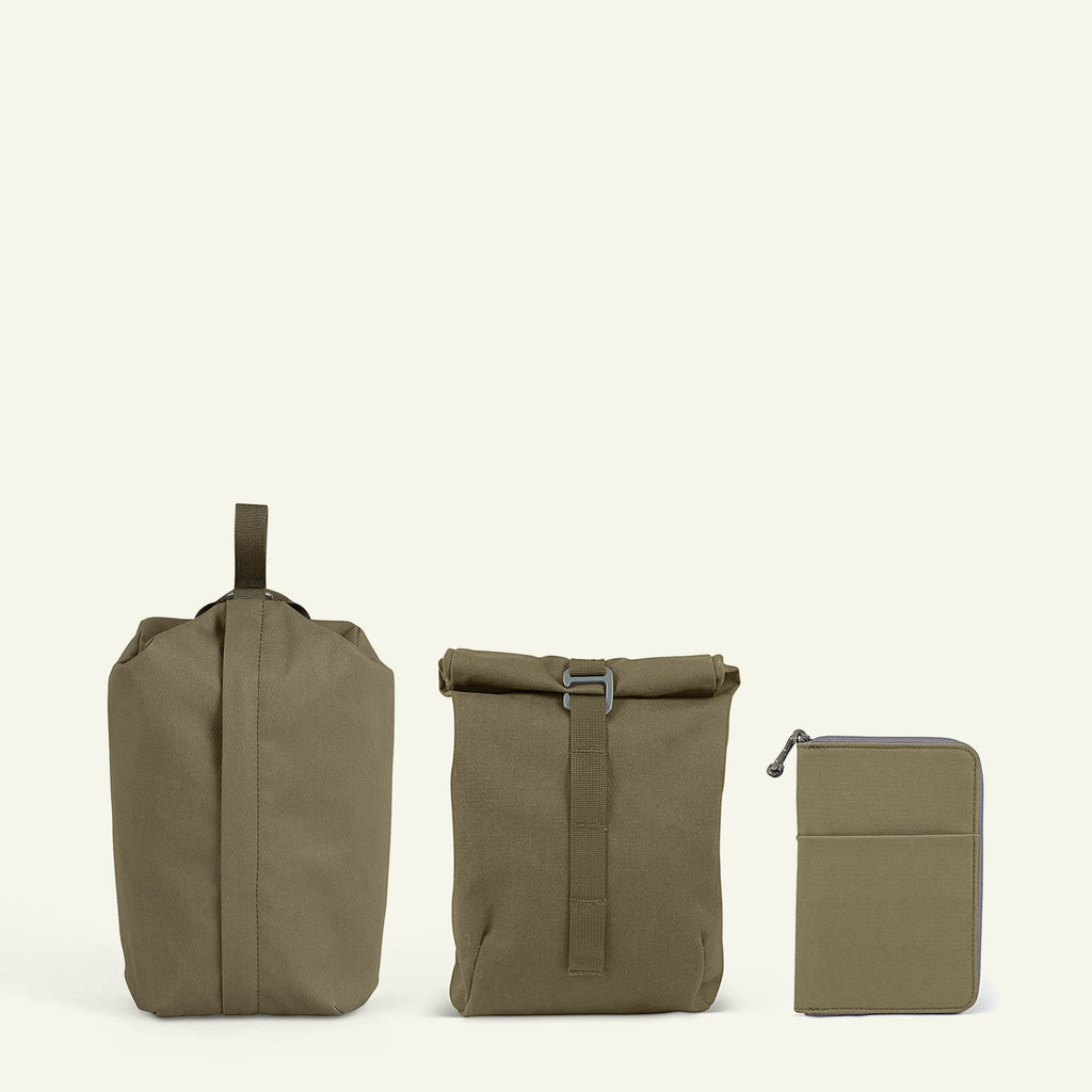 Travel Bundle | Maverick Accessories Set | Moss available from Millican