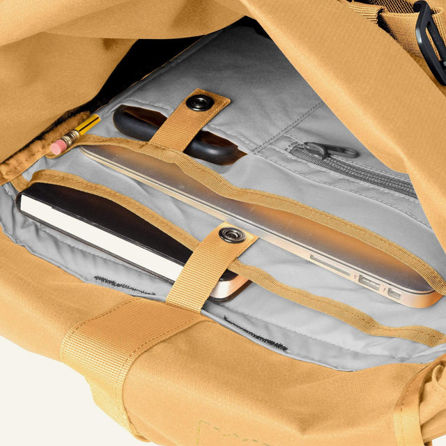 The Mavericks | Smith | The Roll Pack 15L - With Pockets (Gorse) available from Millican