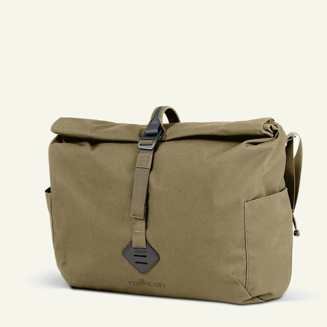 The Mavericks | Bowden | The Camera Messenger Bag 20L (Moss) available from Millican