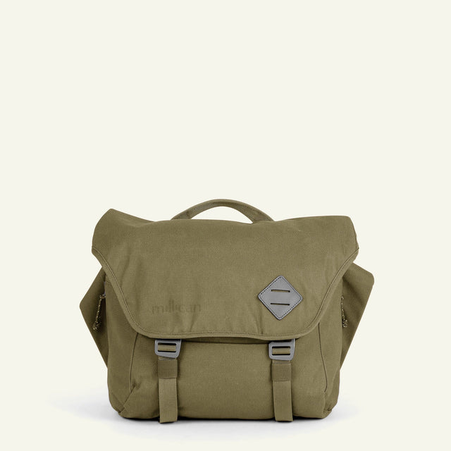 The Mavericks | Nick | The Messenger Bag 13L (Moss) available from Millican