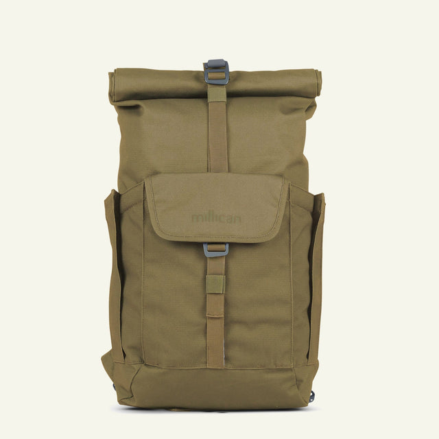 Everyday Adventurer | Smith the Roll Pack 15L - With Pockets (Moss) available from Millican