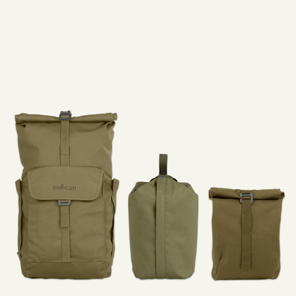 Everyday Adventurer | Smith the Roll Pack 25L (Moss) available from Millican
