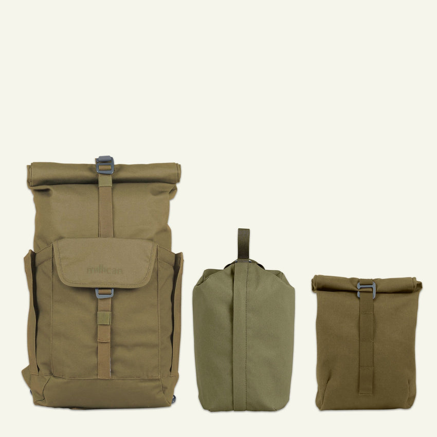 Everyday Adventurer | Smith the Roll Pack 15L - With Pockets (Moss)