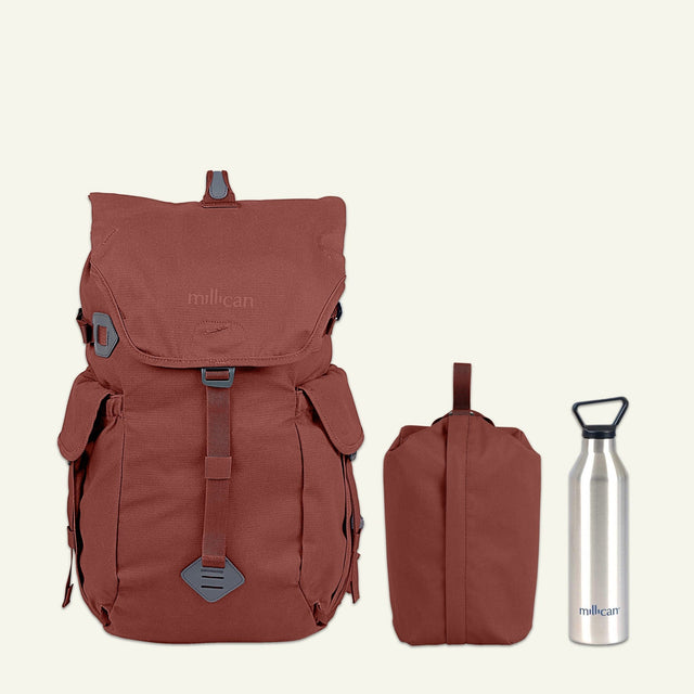 Lakeland Hiker | Fraser the Rucksack 32L (Rust) available from Millican