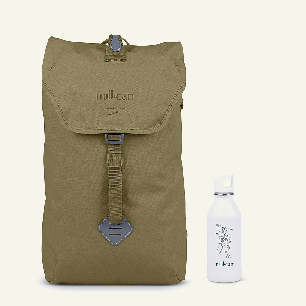 Travel Bundle | The Curious Commuter <br/>Fraser the Rucksack 18L (Moss)