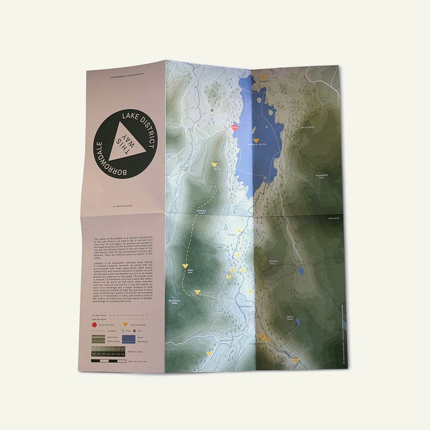 This Way | Borrowdale Valley Map | This Way Co. available from Millican