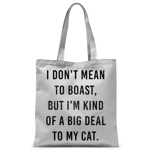 Big Deal To My Cat - Tote Bag Big Deal To My Cat - Tote Bag Tote Bags Default Title