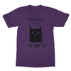 Home Is Where My Cat Is - T-Shirt Home Is Where My Cat Is - T-Shirt T-Shirts S / Purple