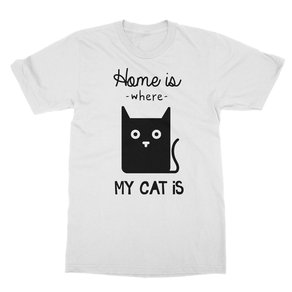 Home Is Where My Cat Is - T-Shirt Home Is Where My Cat Is - T-Shirt T-Shirts S / White