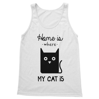 Home Is Where My Cat Is - Tank Top Home Is Where My Cat Is - Tank Top Tank Top S / White
